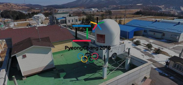 Galgo con los Juegos Olímpicos de Invierno de 2018