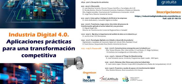 Jornada informativa sobre aplicaciones prácticas de las principales tecnologías para la transformación digital, especialmente de las pymes