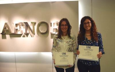 AENOR National Award to the Bachelor Thesis