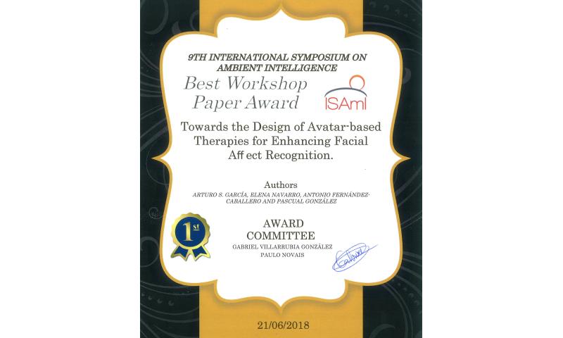 ISAMI 2018 Best Workshop Paper Award