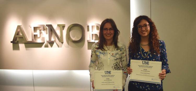 AENOR premia a dos investigadoras del I3A